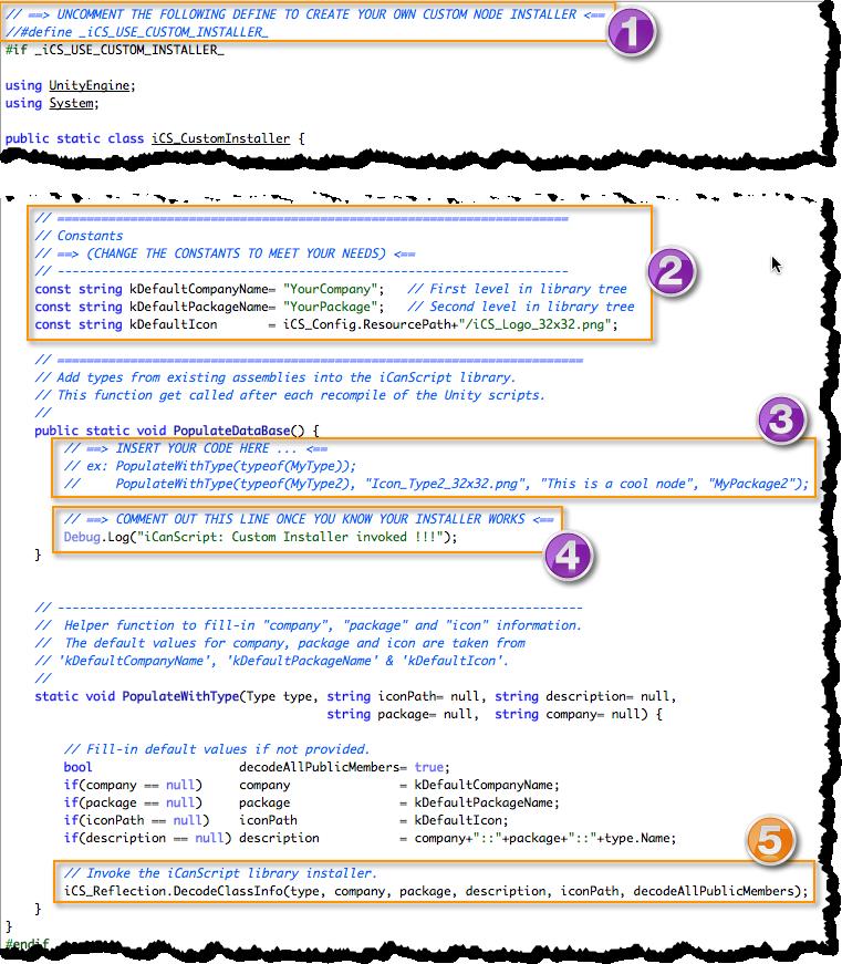 Figure 2. Custom Installer Template File.